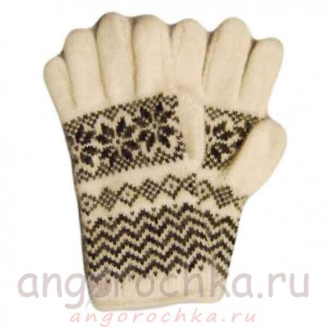 Теплые шерстяные перчатки