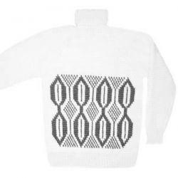 Вязаный шерстяной свитер с орнаментом