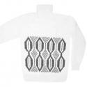 Белый шерстяной свитер для охоты и рыбалки