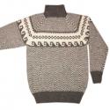 Серый шерстяной свитер для охоты и рыбалки