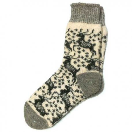 Мужские шерстяные носки с рисунком