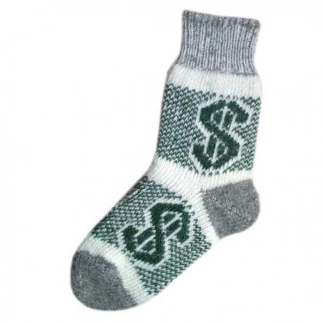 Мужские шерстяные носки с долларом