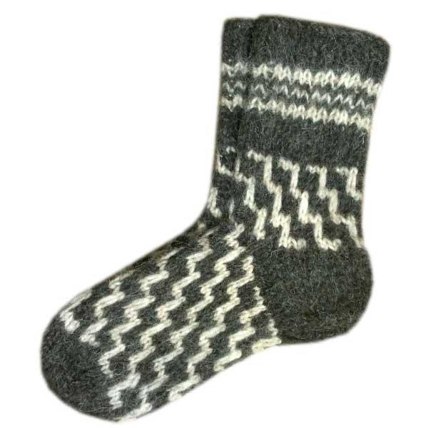 Купить мужские вязаные шерстяные носки ручной работы за ...