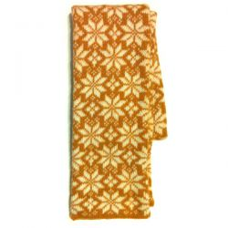Вязаный шерстяной шарф со снежинками