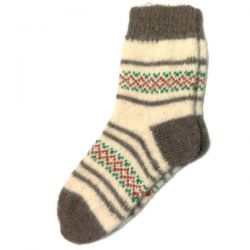 Женские шерстяные вязаные носки с орнаментом