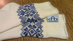 вшивная жаккардная бирка для носков с логотипом