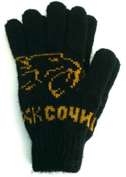 Шерстяные перчатки с логотипом ХКСочи