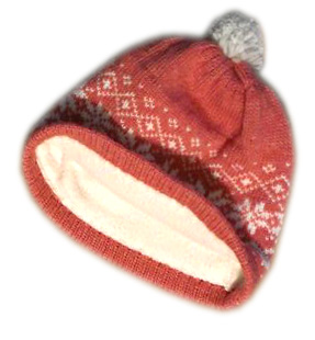 теплая шапка с логотипом
